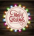 Christmas garland of light vector image
