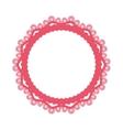 Decorative circle emblem vector image