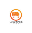 elephant logo and symbols template app vector image