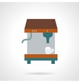 Espresso coffee machine flat icon vector image