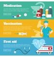 Flat Medicine Banner Set vector image