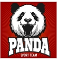 Panda Template for Pandas sport team logo vector image