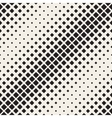 Seamless Rhombus Diagonal Halftone vector image