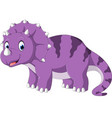 triceratops cartoon vector image