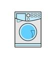 symbol of washing machine color line art vector image
