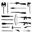 18 weapon icon medieval and modern vector image