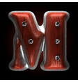 metal and wood figure m vector image vector image