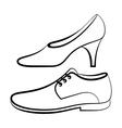Women and men shoe vector image