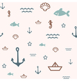 pattern icon sea vector image