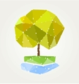 Abstract green tree of triangles vector image