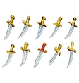 Vintage daggers and poniards with sharp blades vector image