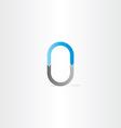letter o or number 0 vector image