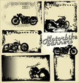 motorbike grunge banners vector image