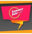 Summer sale origami banner vector image