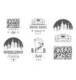Set of Badges Logos and Sign Break Dance vector image