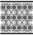 black and white ottoman serial patterns twenty six vector image