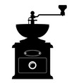 coffee mill old retro vintage icon stock vector image