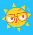 Cute Geek Sun Thinking vector image