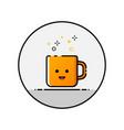 happy cap flat line icon vector image