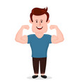 pumped-up sport fitness young man vector image