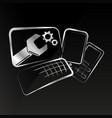 repair of smartphones and computer equipment vector image