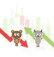 Stock market cartoon vector image