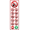 Set - Prohibited symbols vector image