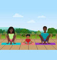 the african american family vector image