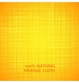 Orange cloth texture background vector image
