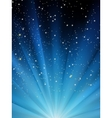 Snow falling on blue luminous rays EPS 8 vector image vector image