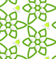 Green layered floristic swirl lace seamless vector image