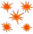 Bursting sale sign bursting star vector image