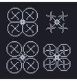 simple set of pixel art style light blue vector image