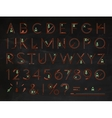 Font Flat chalk red vector image vector image