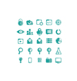 icons seo set vector image