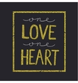 love quote lettering on black backround vector image vector image