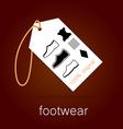 footwear label vector image