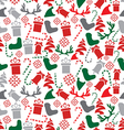 Seamless Christmas Elements Pattern vector image vector image