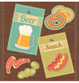 Beer and Snack vector image