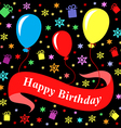 birthday multicolor black vector image vector image