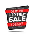 black friday sale banner website sticker vector image