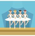 Four Ballerinas Little Swans Dance Performance vector image