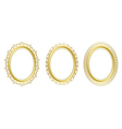 golden oval frames - set vector image