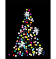 holiday tree vector image