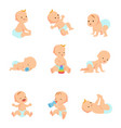 infant baby characters newborn in vector image