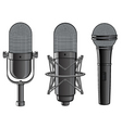 isolated image of microphones vector image
