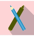 Marker pen and pen icon vector image
