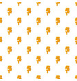 number 5 from honey pattern vector image