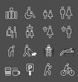 park Icons set vector image