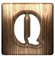 wooden figure q vector image